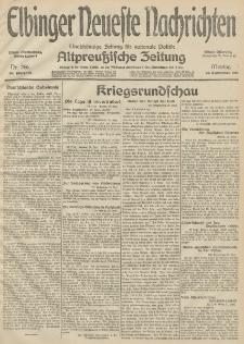 Elbinger Neueste Nachrichten, Nr. 266 Montag 28 September 1914 66. Jahrgang
