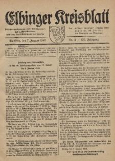 Kreis-Blatt des Königlich Preußischen Landraths-Amtes zu Elbing, Nr. 2 / 123 Jahrgang, Dienstag 7 Januar 1941