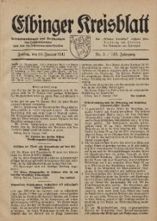 Kreis-Blatt des Königlich Preußischen Landraths-Amtes zu Elbing, Nr. 3 / 123 Jahrgang, Freitag 10 Januar 1941