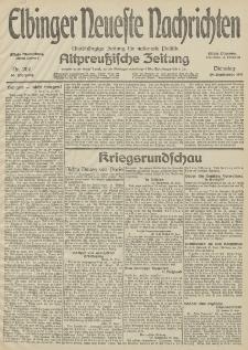 Elbinger Neueste Nachrichten, Nr. 267 Dienstag 29 September 1914 66. Jahrgang