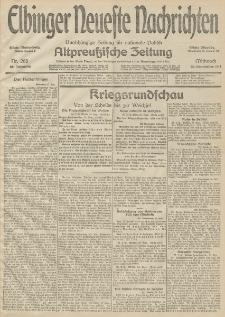 Elbinger Neueste Nachrichten, Nr. 268 Mittwoch 30 September 1914 66. Jahrgang