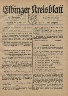 Kreis-Blatt des Königlich Preußischen Landraths-Amtes zu Elbing, Nr. 25 / 123 Jahrgang, Dienstag 8 April 1941