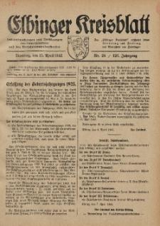 Kreis-Blatt des Königlich Preußischen Landraths-Amtes zu Elbing, Nr. 26 / 123 Jahrgang, Dienstag 15 April 1941