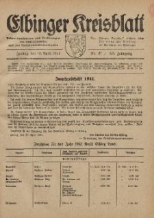 Kreis-Blatt des Königlich Preußischen Landraths-Amtes zu Elbing, Nr. 27 / 123 Jahrgang, Freitag 18 April 1941