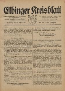 Kreis-Blatt des Königlich Preußischen Landraths-Amtes zu Elbing, Nr. 28 / 123 Jahrgang, Dienstag 22 April 1941