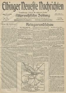 Elbinger Neueste Nachrichten, Nr. 270 Freitag 2 Oktober 1914 66. Jahrgang