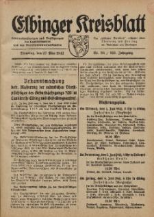 Kreis-Blatt des Königlich Preußischen Landraths-Amtes zu Elbing, Nr. 38 / 123 Jahrgang, Dienstag 27 Mai 1941