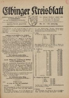Kreis-Blatt des Königlich Preußischen Landraths-Amtes zu Elbing, Nr. 44 / 123 Jahrgang, Freitag 20 Juni 1941