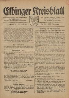 Kreis-Blatt des Königlich Preußischen Landraths-Amtes zu Elbing, Nr. 49 / 123 Jahrgang, Dienstag 22 Juli 1941