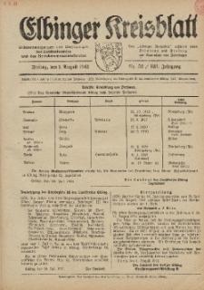 Kreis-Blatt des Königlich Preußischen Landraths-Amtes zu Elbing, Nr. 52 / 123 Jahrgang, Freitag 1 August 1941