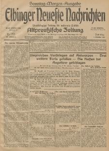 Elbinger Neueste Nachrichten, Nr. 272 Sonntag 4 Oktober 1914 66. Jahrgang