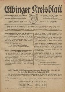 Kreis-Blatt des Königlich Preußischen Landraths-Amtes zu Elbing, Nr. 62 / 123 Jahrgang, Freitag 12 September 1941