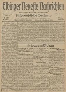 Elbinger Neueste Nachrichten, Nr. 273 Montag 5 Oktober 1914 66. Jahrgang
