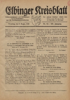 Kreis-Blatt des Königlich Preußischen Landraths-Amtes zu Elbing, Nr. 82 / 123 Jahrgang, Dienstag 9 Dezember 1941