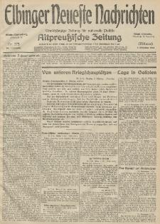 Elbinger Neueste Nachrichten, Nr. 275 Mittwoch 7 Oktober 1914 66. Jahrgang
