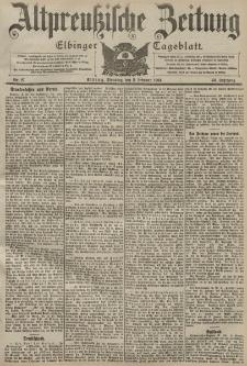 Altpreussische Zeitung, Nr. 27 Dienstag 2 Februar 1904, 56. Jahrgang