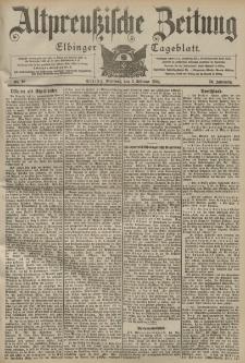 Altpreussische Zeitung, Nr. 28 Mittwoch 3 Februar 1904, 56. Jahrgang