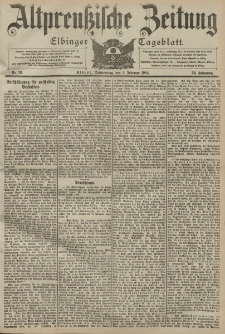 Altpreussische Zeitung, Nr. 29 Donnerstag 4 Februar 1904, 56. Jahrgang