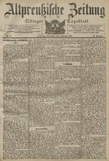 Altpreussische Zeitung, Nr. 31 Sonnabend 6 Februar 1904, 56. Jahrgang