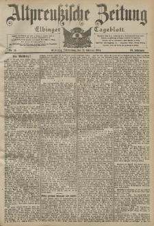 Altpreussische Zeitung, Nr. 35 Donnerstag 11 Februar 1904, 56. Jahrgang