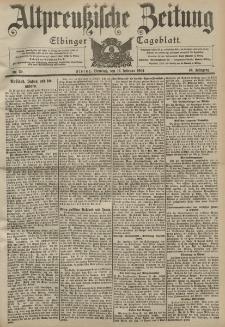 Altpreussische Zeitung, Nr. 39 Dienstag 16 Februar 1904, 56. Jahrgang