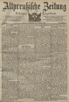 Altpreussische Zeitung, Nr. 41 Donnerstag 18 Februar 1904, 56. Jahrgang