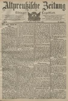 Altpreussische Zeitung, Nr. 42 Freitag 19 Februar 1904, 56. Jahrgang