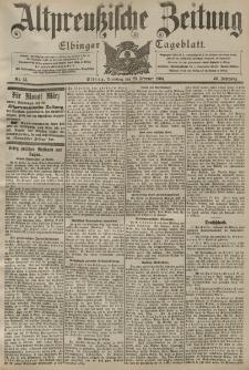 Altpreussische Zeitung, Nr. 45 Dienstag 23 Februar 1904, 56. Jahrgang