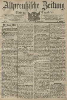 Altpreussische Zeitung, Nr. 48 Freitag 26 Februar 1904, 56. Jahrgang