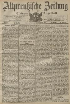 Altpreussische Zeitung, Nr. 50 Sonntag 28 Februar 1904, 56. Jahrgang