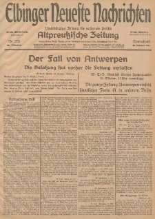 Elbinger Neueste Nachrichten, Nr. 278 Sonnabend 10 Oktober 1914 66. Jahrgang