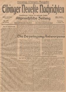 Elbinger Neueste Nachrichten, Nr. 279 Sonntag 11 Oktober 1914 66. Jahrgang