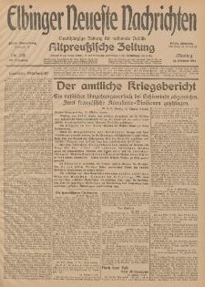 Elbinger Neueste Nachrichten, Nr. 280 Montag 12 Oktober 1914 66. Jahrgang