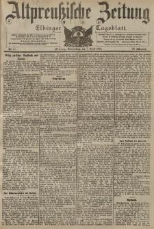 Altpreussische Zeitung, Nr. 81 Donnerstag 7 April 1904, 56. Jahrgang