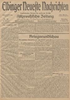 Elbinger Neueste Nachrichten, Nr. 281 Dienstag 13 Oktober 1914 66. Jahrgang