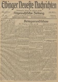 Elbinger Neueste Nachrichten, Nr. 282 Mittwoch 14 Oktober 1914 66. Jahrgang
