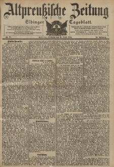 Altpreussische Zeitung, Nr. 97 Dienstag 26 April 1904, 56. Jahrgang