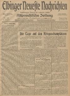 Elbinger Neueste Nachrichten, Nr. 283 Donnerstag 15 Oktober 1914 66. Jahrgang