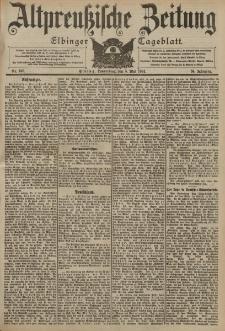 Altpreussische Zeitung, Nr. 105 Donnerstag 5 Mai 1904, 56. Jahrgang