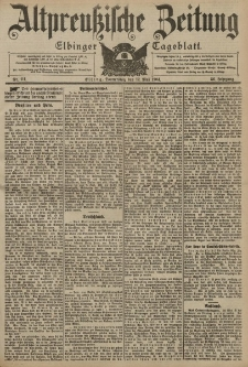 Altpreussische Zeitung, Nr. 111 Donnerstag 12 Mai 1904, 56. Jahrgang