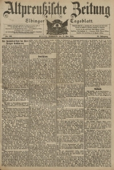 Altpreussische Zeitung, Nr. 112 Sonnabend 14 Mai 1904, 56. Jahrgang