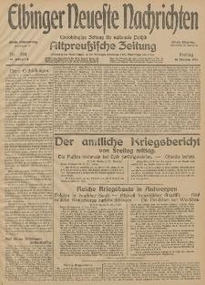 Elbinger Neueste Nachrichten, Nr. 284 Freitag 16 Oktober 1914 66. Jahrgang