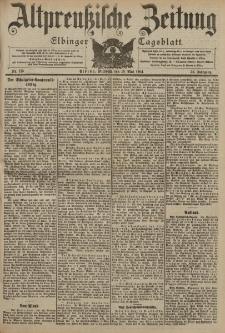 Altpreussische Zeitung, Nr. 115 Mittwoch 18 Mai 1904, 56. Jahrgang