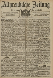 Altpreussische Zeitung, Nr. 118 Sonnabend 21 Mai 1904, 56. Jahrgang