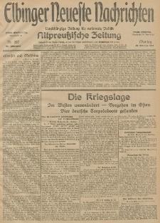 Elbinger Neueste Nachrichten, Nr. 287 Montag 19 Oktober 1914 66. Jahrgang