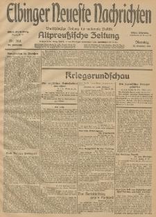 Elbinger Neueste Nachrichten, Nr. 288 Dienstag 20 Oktober 1914 66. Jahrgang