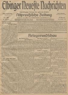Elbinger Neueste Nachrichten, Nr. 289 Mittwoch 21 Oktober 1914 66. Jahrgang