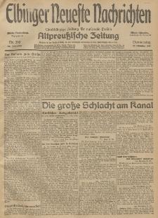Elbinger Neueste Nachrichten, Nr. 290 Donnerstag 22 Oktober 1914 66. Jahrgang