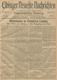 Elbinger Neueste Nachrichten, Nr. 291 Freitag 23 Oktober 1914 66. Jahrgang