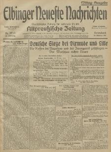 Elbinger Neueste Nachrichten, Nr. 292 Sonnabend 24 Oktober 1914 66. Jahrgang